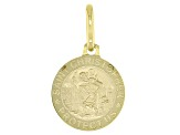 10K Yellow Gold Saint Christopher Medal Pendant