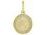 10K Yellow Gold Saint Michael Medal Pendant