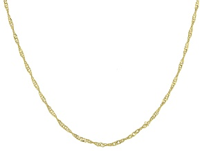 10K Yellow Gold Diamond-Cut 0.95MM Singapore 18 Inch Chain
