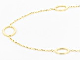 10K Yellow Gold Oval Station Necklace