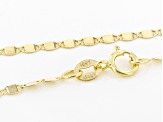 10K Yellow Gold 2MM Mirror Valentino Chain