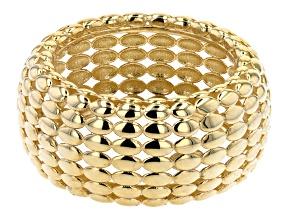 10K Yellow Gold 11MM Petali Band Ring