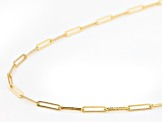 10K Yellow Gold 1.7MM Paperclip 18 Inch Chain