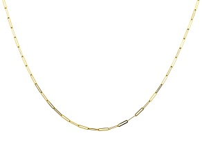 10K Yellow Gold 1.7MM Paperclip 24 Inch Chain