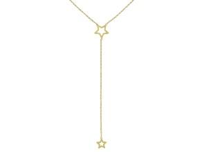 10K Yellow Gold Diamond-Cut Star Y-Necklace