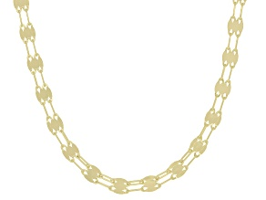 10K Yellow Gold Multi-Row Mirror Valentino Necklace