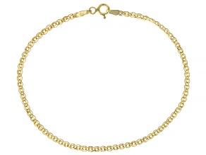 10K Yellow Gold 2.5MM Diamond-Cut Double Marquise Bracelet