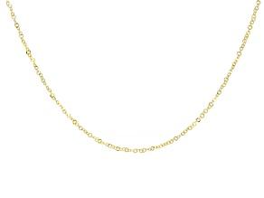 10K Yellow Gold 1MM Diamond-Cut Flat Rolo 20 Inch Chain