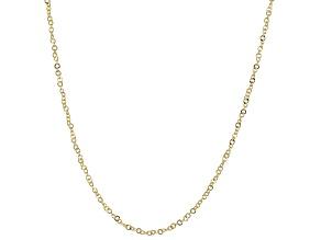 10K Yellow Gold 1MM Diamond-Cut Flat Rolo 24 Inch Chain