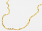 10k Yellow Gold Hollow Designer Rope Chain Necklace 18 inch 1.5 Mm