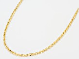10k Yellow Gold Hollow Designer Rope Chain Necklace 20 inch 1.5 Mm