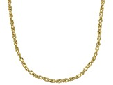 10k Yellow Gold Designer Rope 24 inch Chain Necklace