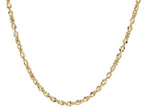 10K Yellow Gold Diamond-Cut 2.5MM Rope Chain