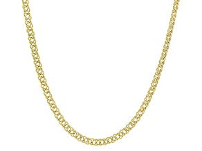 10k Yellow Gold Double Marquise Chain Necklace 18 inch