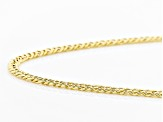 10k Yellow Gold Double Marquise Curb Chain Necklace 20 inch