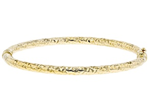 10K Yellow Gold 4MM Diamond-Cut Bangle