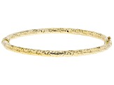 10K Yellow Gold 4MM Diamond-Cut Bangle