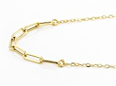 10K Yellow Gold Diamond-Cut Cable Necklace