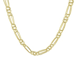 10K Yellow Gold 2.9MM Double Figaro Chain