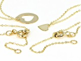 10K Yellow Gold Set of Two Plain and Cut-Out Heart Necklaces