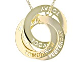 "10K Yellow Gold Diamond-Cut ""Yesterday, Today, and Tomorrow"" Intertwined Circle Necklace"