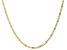 10K Yellow Gold Diamond-Cut 2.1MM Figaro Bar Chain
