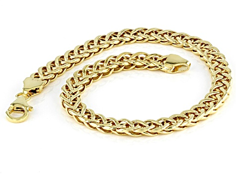 10K Yellow Gold 5.5MM Double Curb Link Bracelet