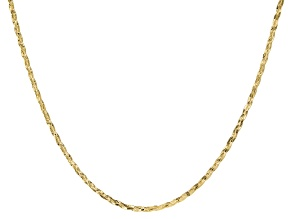 10K Yellow Gold 2.5MM Hammered Braided Curb Chain