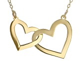10K Yellow Gold Intertwined Heart Necklace