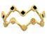 10K Yellow Gold Green Enamel Crown Band Ring