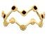 10K Yellow Gold Red Enamel Crown Band Ring