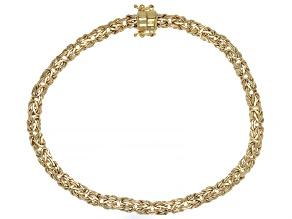 10K Yellow Gold 5MM Byzantine Link Bracelet