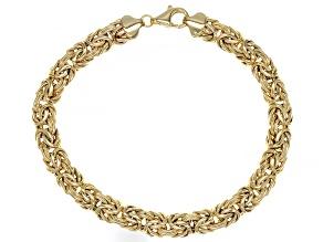 10K Yellow Gold 7MM Byzantine Link Bracelet