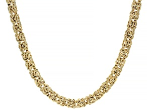 10K Yellow Gold 7MM Byzantine Chain