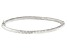 14K White Gold 4MM Polished and Textured Hinged Bangle