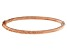 14K Rose 4MM Gold Polished and Textured Hinged Bangle