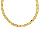 10k Yellow Gold Hollow Bismark Necklace 18 inch
