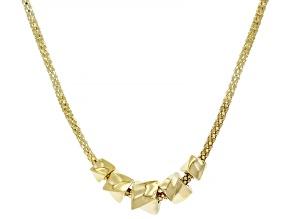 10K Yellow Gold Polished Graduated Beaded Popcorn Necklace