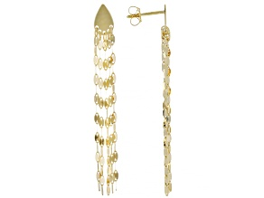 10K Yellow Gold Multi-Strand Dangle Earrings