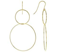10K Yellow Gold Double-Drop Graduated Tube Hoop Earrings