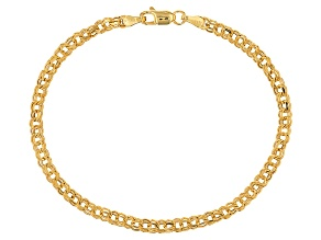 10k Yellow Gold Hollow Garibaldi Bracelet 7.5 inch