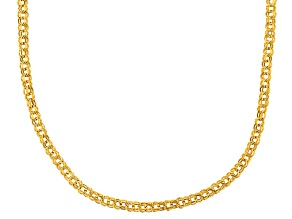 10k Yellow Gold Hollow Garibaldi Necklace 20 inch