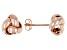 14K Rose Gold Polished Love Knot Stud Earrings