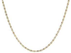 10K Yellow Gold and 10K White Gold, 10K Rose Gold  2MM Valentino Chain