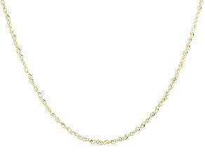 14K Yellow Gold Diamond-Cut Singapore Chain