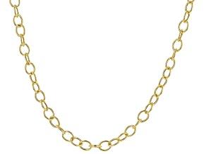 14K Yellow Gold Mirror Rolo Chain