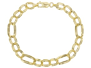 10K Yellow Gold Mirror Figaro Link Bracelet