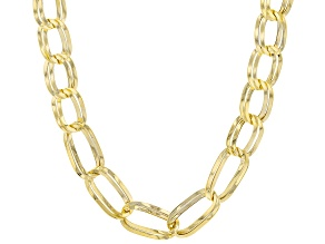 10K Yellow Gold Mirror Figaro Necklace