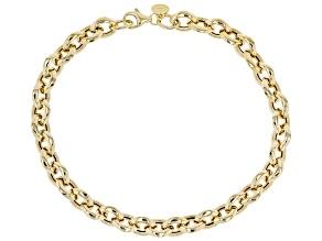 10K Yellow Gold 7MM Bevelled Rolo Link Bracelet