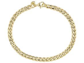 10K Yellow Gold 5MM Bevelled Cuban Link Bracelet